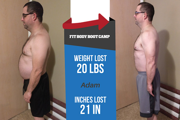 Fitness Before and After - Adam