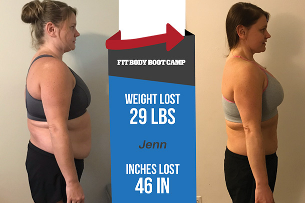 Fitness Before and After - Jenn